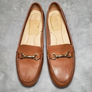Born Magnolia Leather Slip On Moccasin Loafers